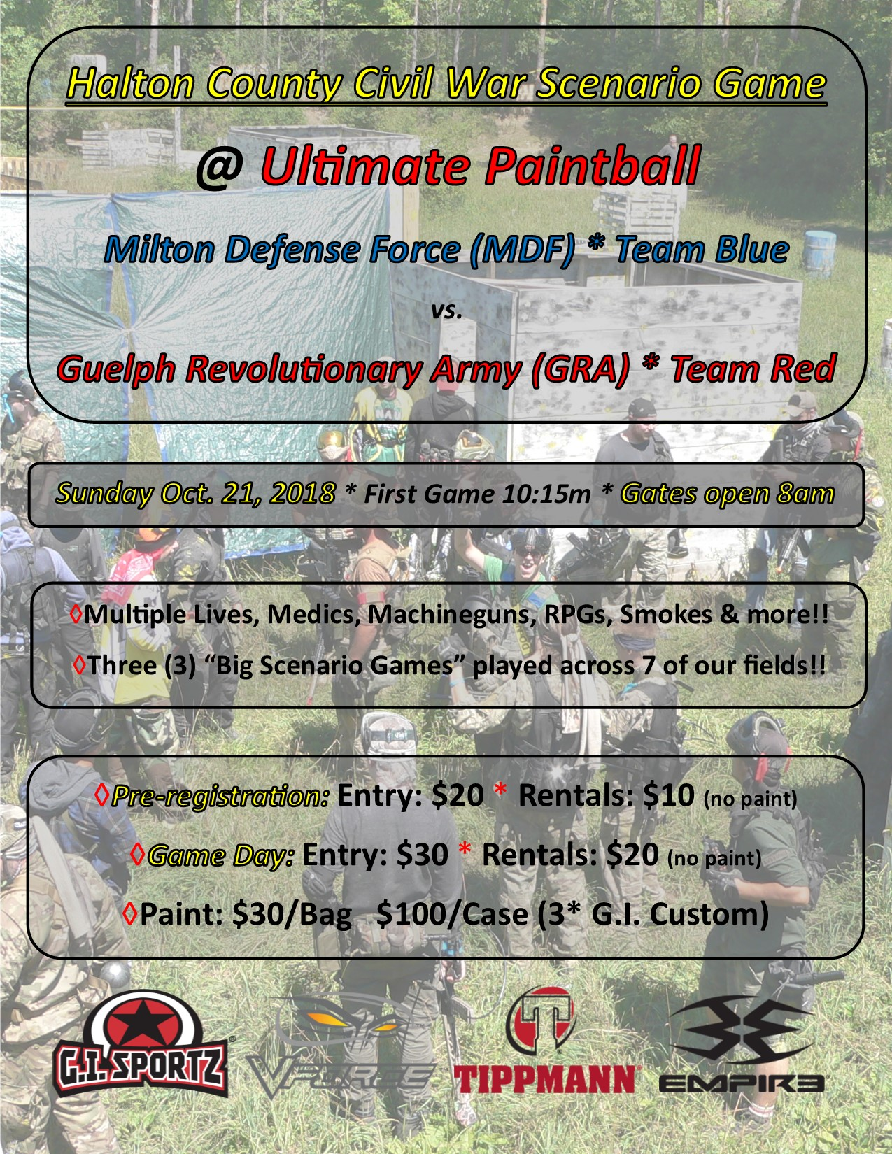 Ultimate Paintball Halton Civil War 2018